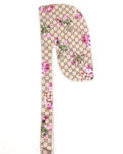 durag de luxe pour homme et femme de la marque Gucci avec des fleurs