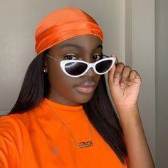 Illustration d'un durag femme de couleur orange
